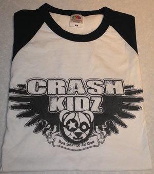 Crash Kidz - Baseball Shirt b/w ohne Backprint (S/M/L/XL, bitte bei deiner Bestellung mit angeben)