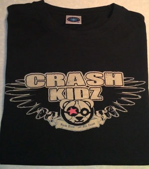 Crash Kidz - Logo Shirt (schwarz) (S/M/L/XL, bitte bei deiner Bestellung mit angeben)