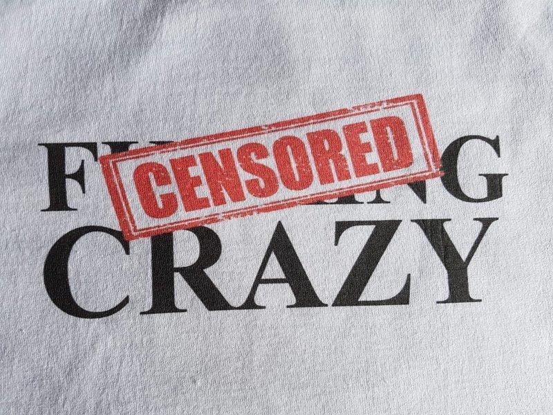 Crash Kidz - Baseball Shirt b/w Backprint *Fucking Crazy*  (S/XXL), bitte bei deiner Bestellung mit angeben)