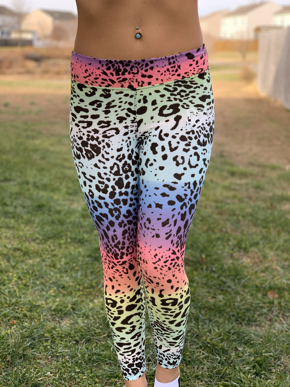 Tie-dyed Leopard DH Leggings