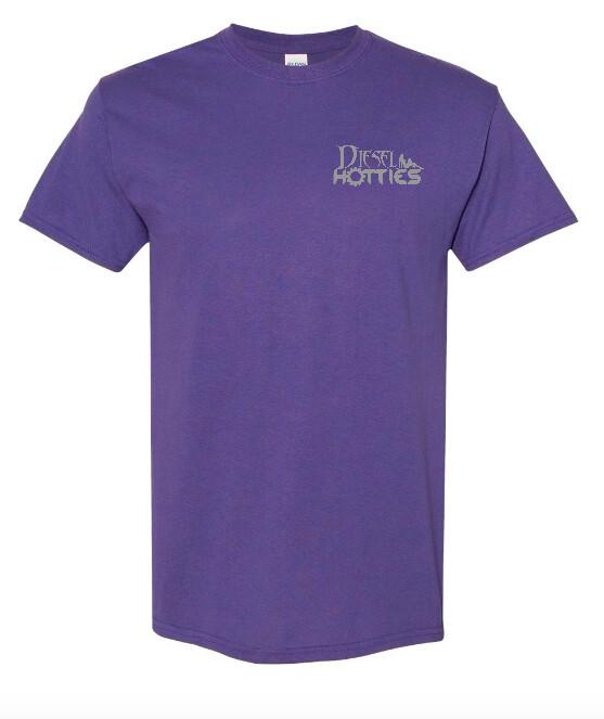 Unisex Purple Short Sleeve Tee