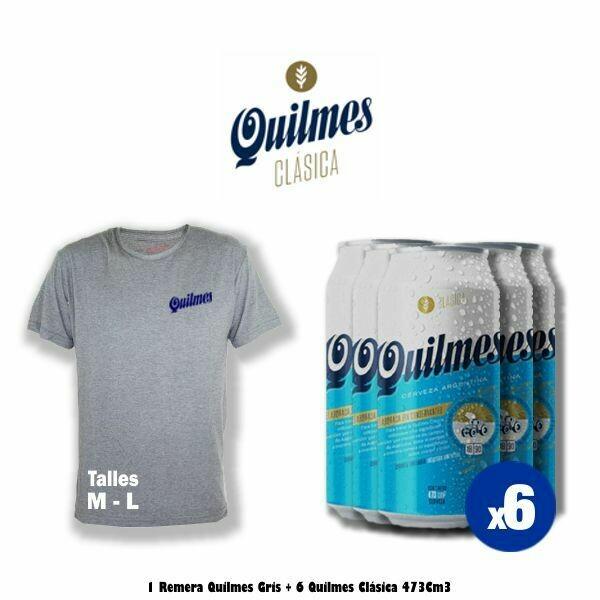 Remera + 6 Latas Quilmes