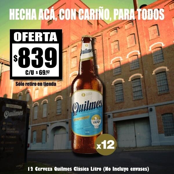 OFERTA - Quilmes Litro x12