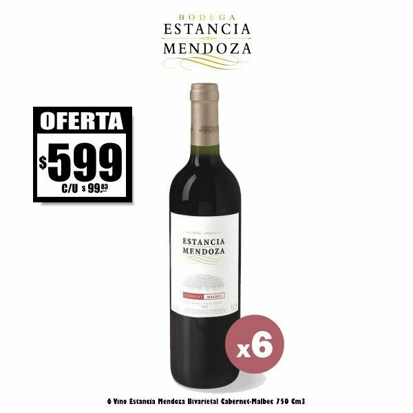 OFERTA - Estancia Mendoza Cabernet-Malbec x6