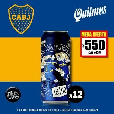 MEGA OFERTA - 12 Latas Quilmes BOCA 473Cm3-Op. Express