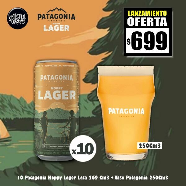LANZAMIENTO - 10 Pat. Hoppy Lager + Vaso 250Cm3