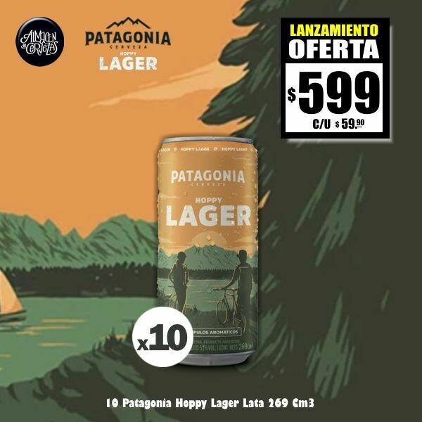 LANZAMIENTO - 10 Patagonia Hoppy Lager Lata 269Cm3