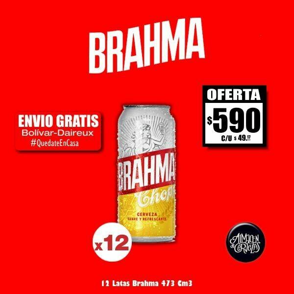 12 Latas Brahma 473Cm3. Op. Express