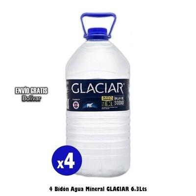 Glaciar Agua Mineral 6.3Lts x4