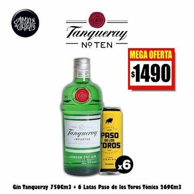 MEGA OFERTA-Gin Tanqueray + 6 Latas Paso de los Toros. Op.EXPRESS