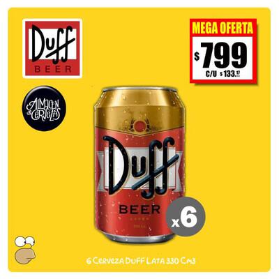 MEGA OFERTA - 6 Latas Duff 330Cm3