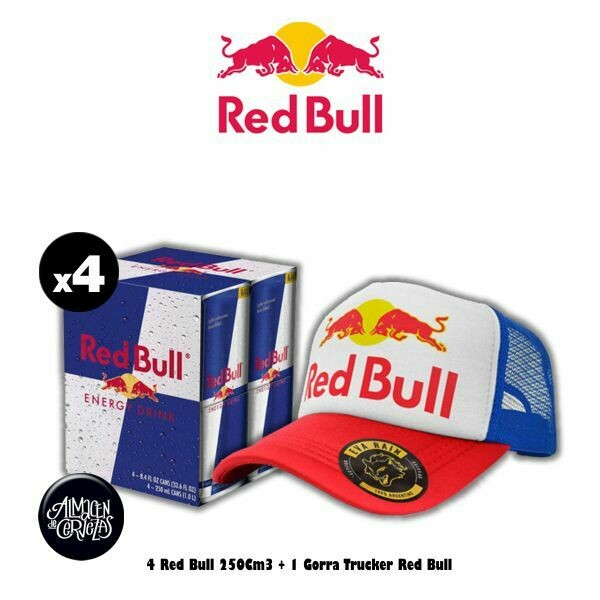4 Red Bull 250Cm3 + Gorra Trucker