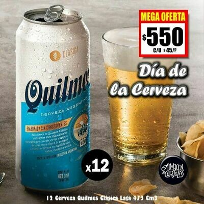 DÍA DE LA CERVEZA-12 Quilmes Clásica 473Cm3