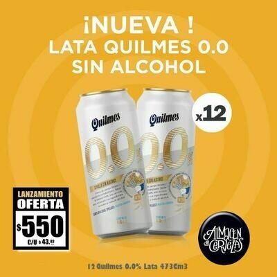 LANZAMIENTO - Quilmes 0.0% SIN ALCOHOL Lata 473 x12