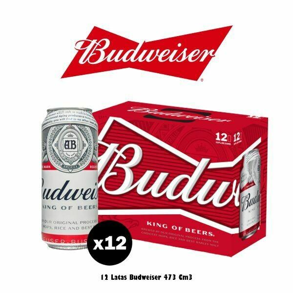 Budweiser Lata 473 Cm3 x12. Op.Express