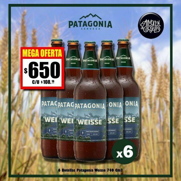 MEGA OFERTA - 6 Botellas Patagonia Weisse 730Cm3