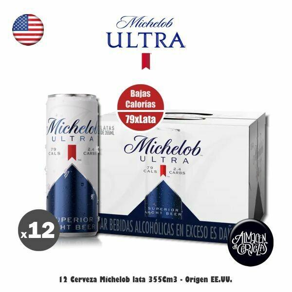 12 Michelob Ultra Lata 355Cm3 - Bajas Calorías