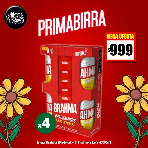 PRIMABIRRA - JENGA Brahma + 4 Latas Brahma