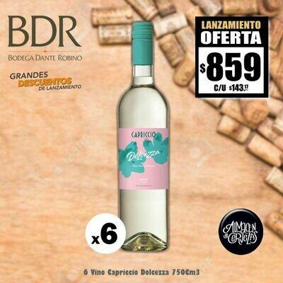 6 Vino Dulce Capriccio Dolcezza 750Cm3