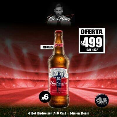 LANZAMIENTO - Budweiser MESSI 710Cm3 x 6 Desc. - Opción Express
