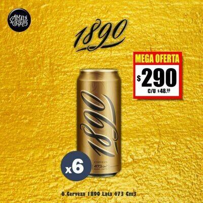 MEGA OFERTA - 6 Cerveza 1890 Lata 473Cm3.  Op. Express