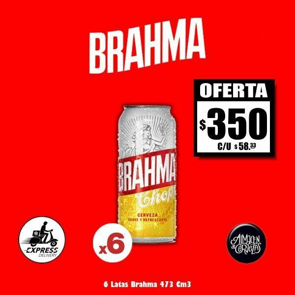 OFERTA - 6 Brahma Lata 473Cm3 Opción Express