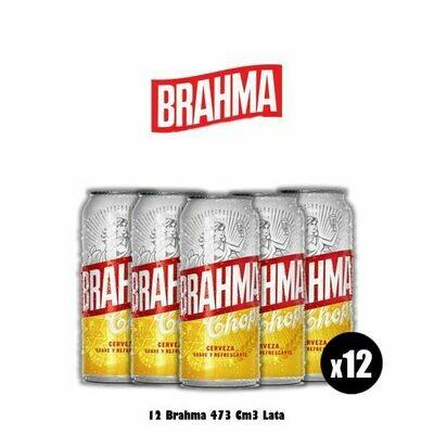 12 Latas Brahma 473Cm3