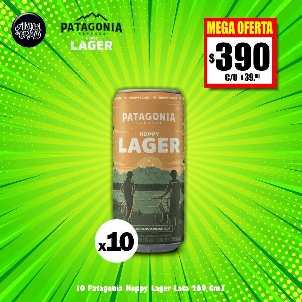 MEGA OFERTA - 10 Patagonia Hoppy Lager Lata 269Cm3