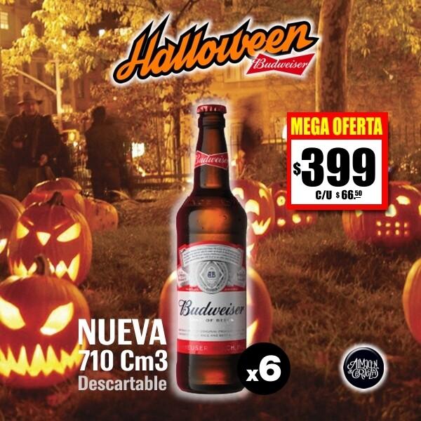 HALLOWEEN - Budweiser 710Cm3 x 6 Desc. - Opción Express