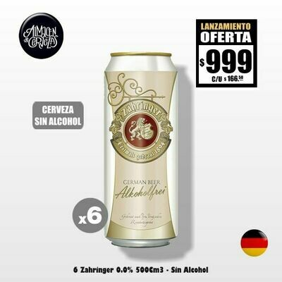 SIN ALCOHOL - 6 Zähringer Lata 500Cm3