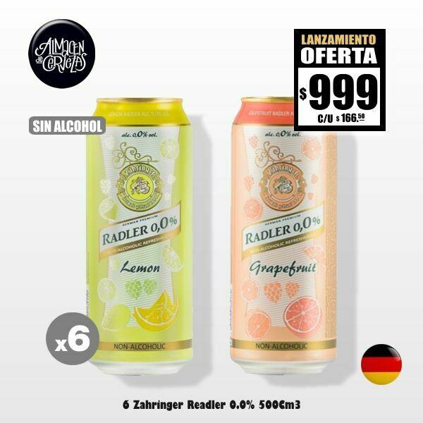SIN ALCOHOL- 6 Zähringer Radler 0.0% Latas 500Cm3