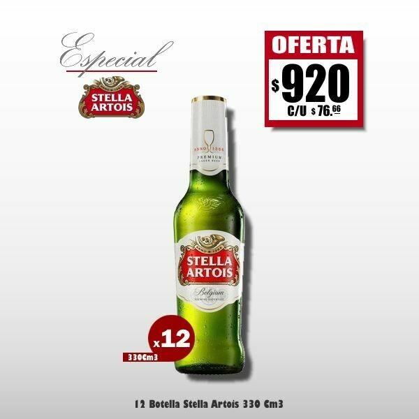ESPECIAL STELLA - 12 Stella Artois 330Cm3
