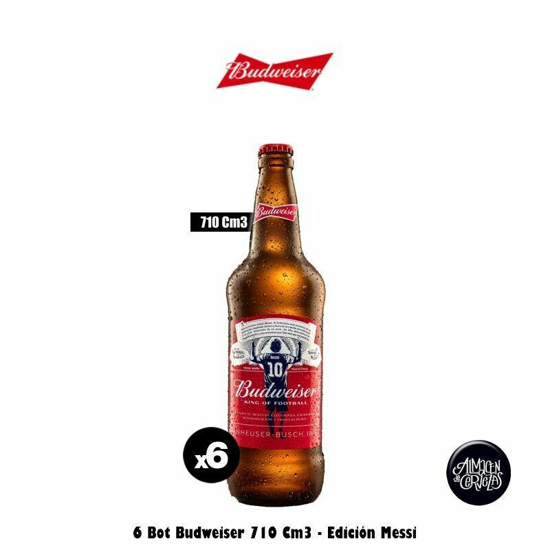 Budweiser 710Cm3 x 6 edición Messi Desc. - Opción Express