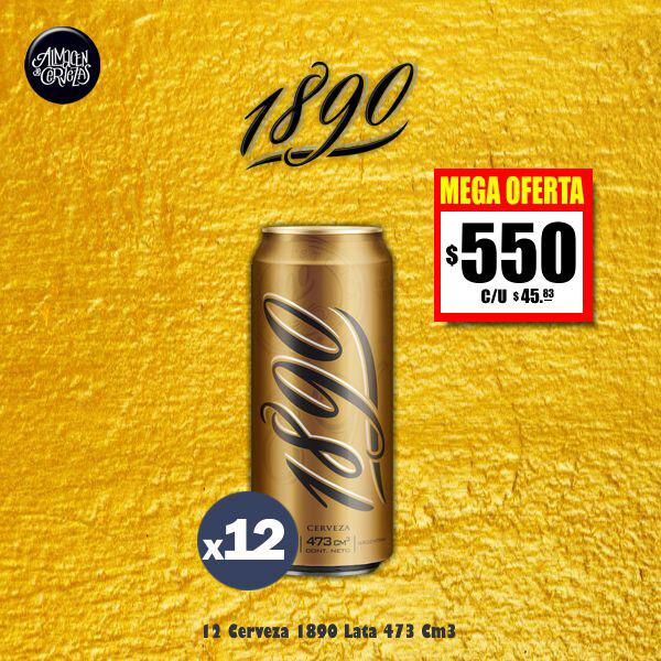 MEGA OFERTA - 12 Cerveza 1890 Lata 473Cm3.  Sólo Express