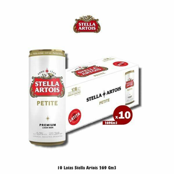 10 Latas Stella 269Cm3.