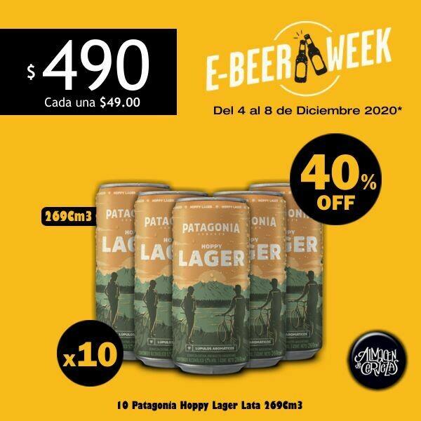 E-BEER-WEEK - 10 Patagonia Hoppy Lager Lata 269Cm3