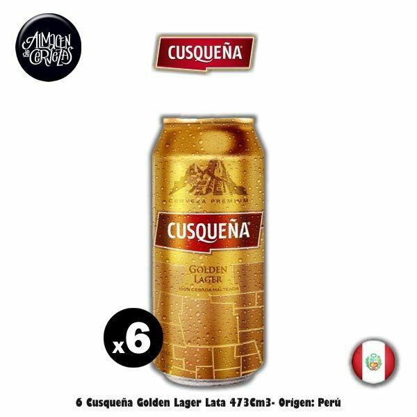 6 Cusqueña Rubia Lata 473Cm3