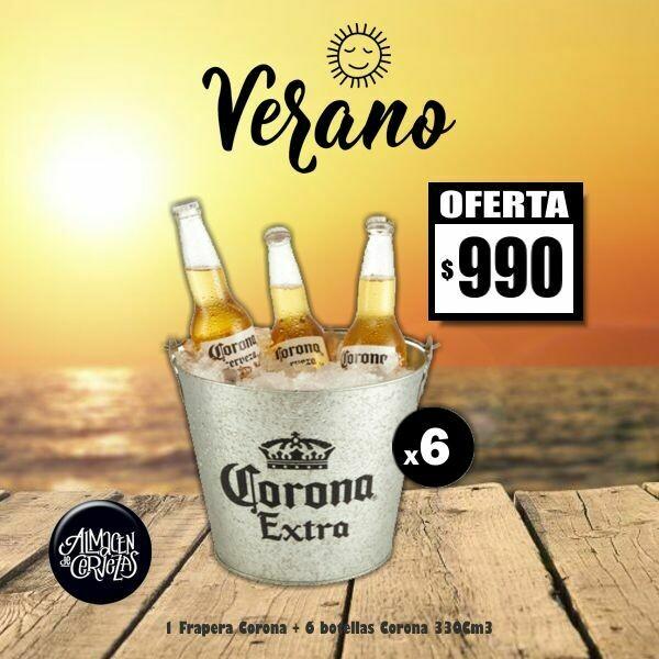 VERANO - Frapera Corona + 6 Corona 330Cm3