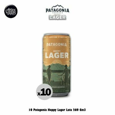 10 Patagonia Hoppy Lager Lata 269Cm3