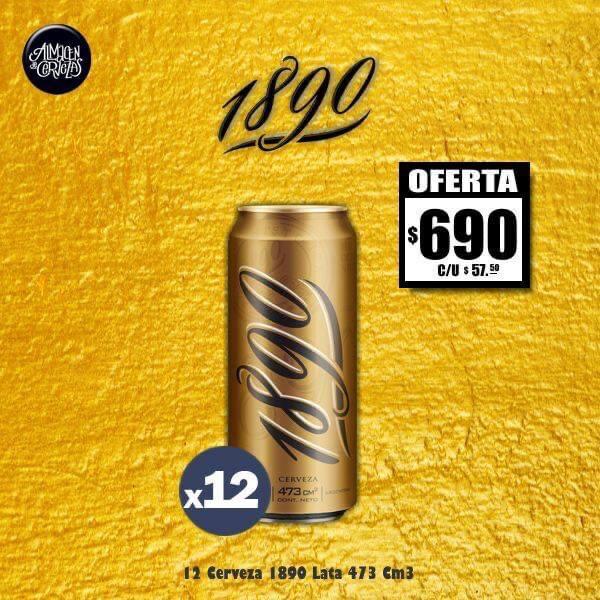 OFERTA - 12 Cerveza 1890 Lata 473Cm3 + LAYS.  Sólo Express