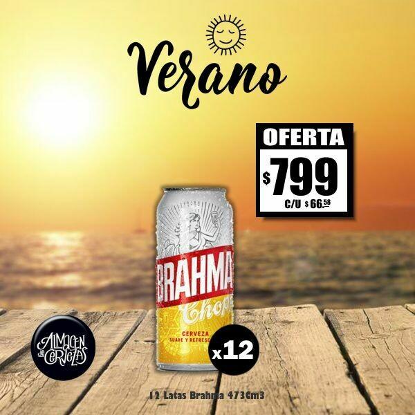 VERANO - 12 Latas Brahma 473Cm3