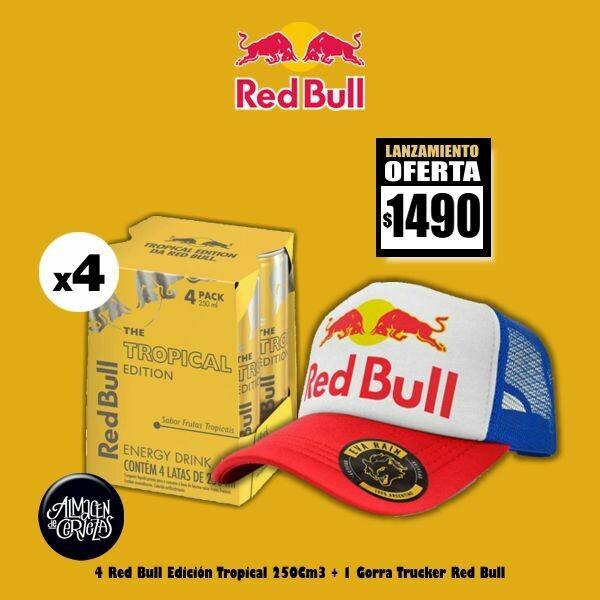 LANZAMIENTO- 4 Red Bull Tropical Edition + Gorra Trucker
