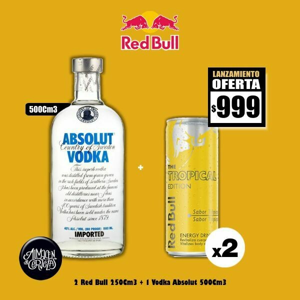 LANZAMIENTO - Absolut + 2 RedBull Tropical Edition 250Cm3.Op Express