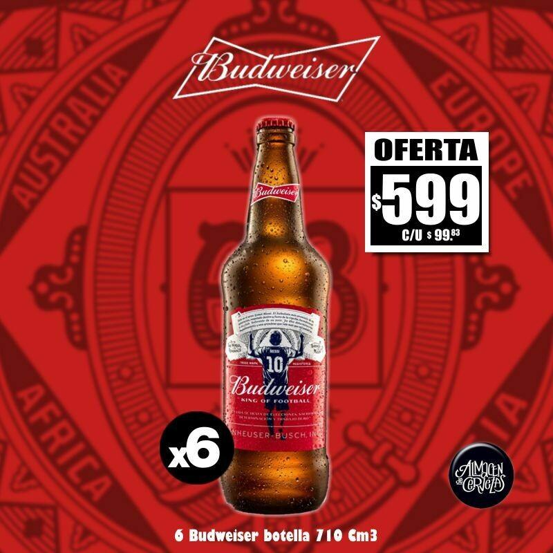 OFERTA - Budweiser 710Cm3 x 6 edición Messi Desc. Op. Express