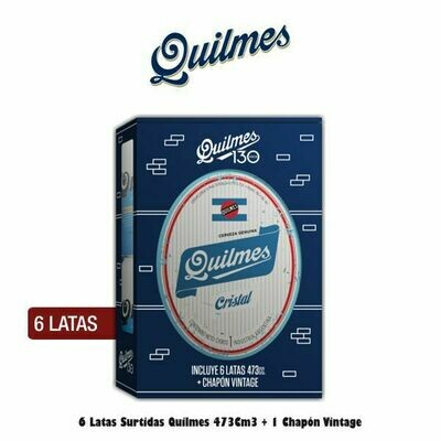 1 Chapon Quilmes + 6 Latas Quilmes Variedades