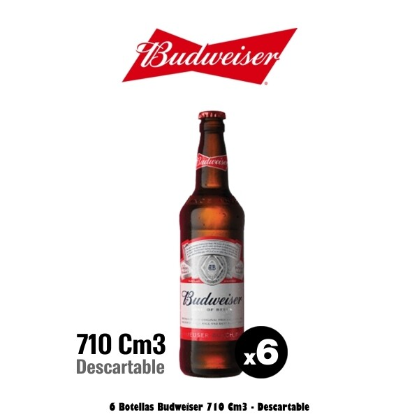 Budweiser 710Cm3 x 6. Op. Express Delivery