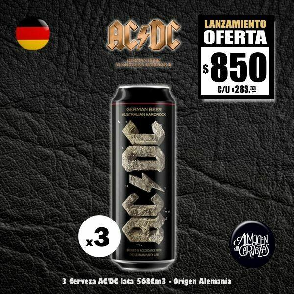 LANZAMIENTO - AC/DC Lata 586Cm3  x3