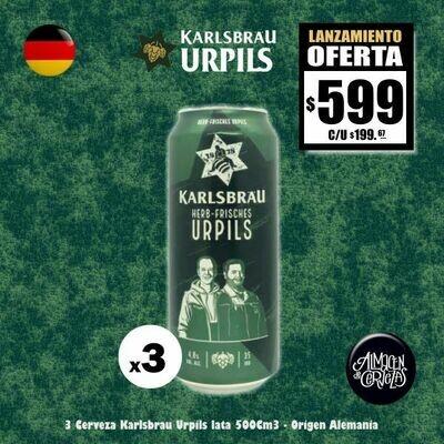 LANZAMIENTO - 3 Karlsbrau Urpils Lata 500 Cm3
