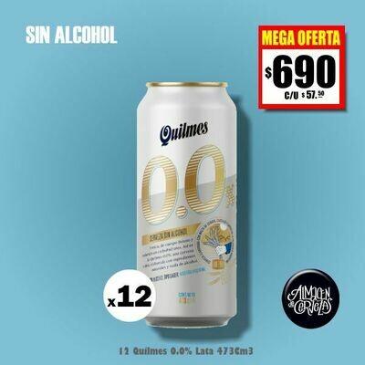 MEGA OFERTA - Quilmes 0.0% SIN ALCOHOL Lata 473 x12