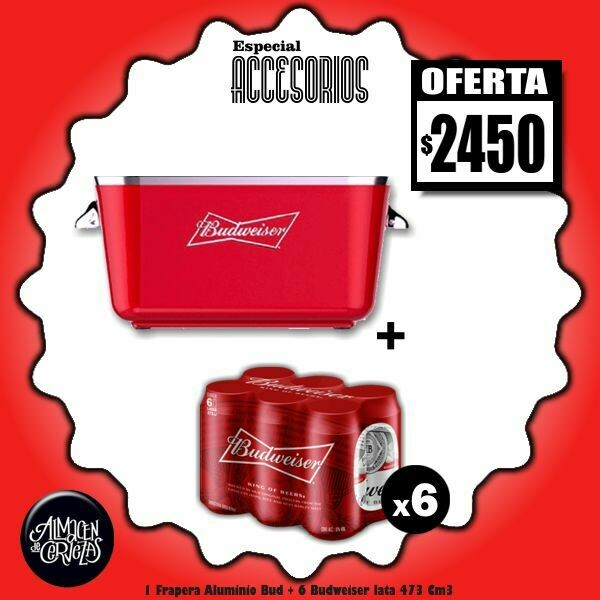 ESPECIAL ACCESORIOS - 1 Frapera Aluminio + 6 Bus Lata 473Cm3